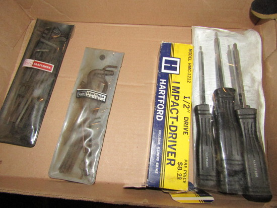 Set of Torque Drivers, ½ Inch Impact Driver Set and Allen Wrenches