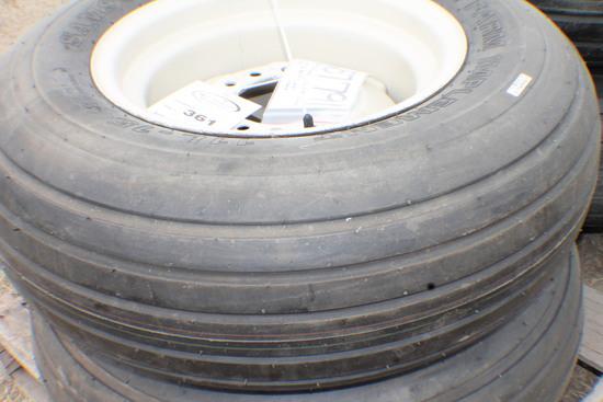 361. 257-791 ( 2 ) Unused 11L-15 Tires on 6 Bolt Rims, Your Bid X 2, Tax