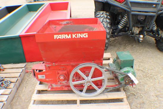 366. 408-1027, Farm King 5 H.P. 220 V, Roller Mill, 500 RPM, Tax / Sign ST3