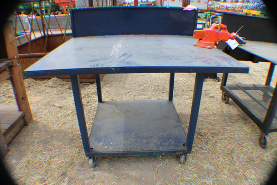 374. 255-651. 5 FT X 4 FT Welding Table with Vise, Tax