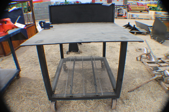 375. 255-652. 4 FT. X 4 FT. Welding Table with Vise, Tax