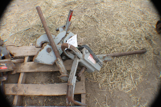 376. 380-Set of Tow and Wagon Speed  Hitches, Tax / Sign ST3
