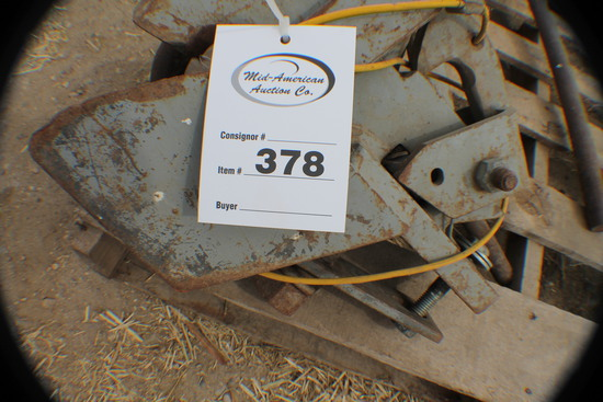 378. 380 Set of Tow and Wagon Speed Hitches, Tax / Sign ST3