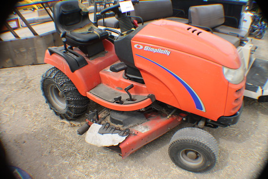 385. 397-989. Simplicity Broadmore Hydro, Riding Lawn Tractor, 44 Inch Deck