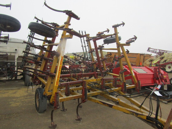 742. 246-340. Kent 24 FT. Field Cultivator with 3 Bar Harrow, T/ST3