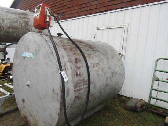 195. 1000 Gallon Fuel Barrel with Gas Boy Electric Pump