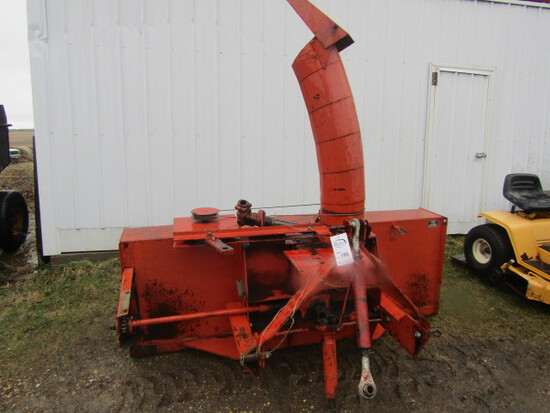 199. New Idea Model 517 7FT. 3 Point Double Auger Snow Blower, Hydraulic Sp