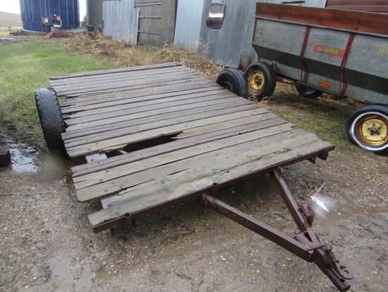 201. 7 FT X 11.5 FT. Single Axle Flat Bed Farm Trailer