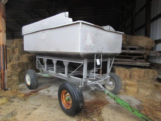 209. Dakon 175 Bu. Gravity Box on John Deere 1065 Four Wheel Wagon, Ext. Po