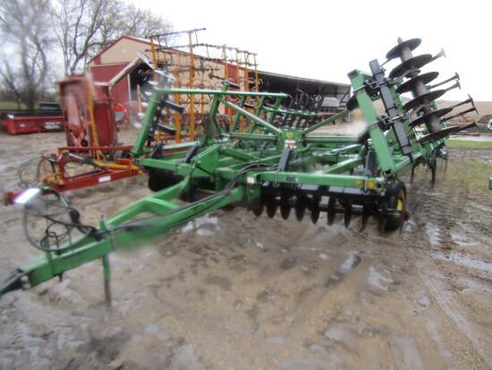 211. John deere Model 724 19 FT. Soil Finisher, Walking Tandems, Serial # X
