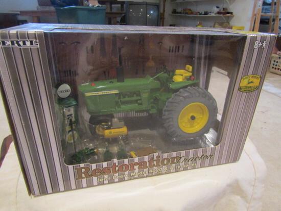 708. Ertl John Deere 4020 Restoration Tractor with Accessories in Box