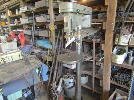 159. Dura-Craft 16 Speed 3.4 H.P. Drill Press on Adjustable Pedestal Stand