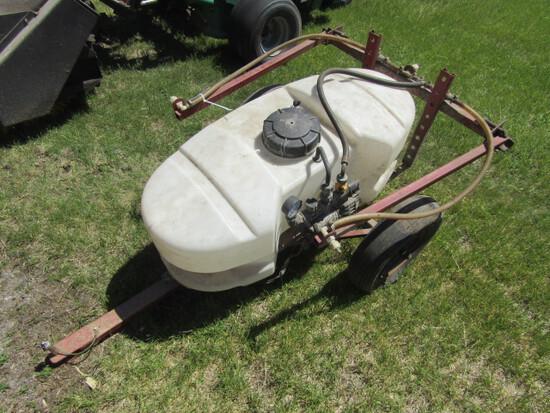 167. Finco 25 Gallon Pull Type Lawn Sprayer