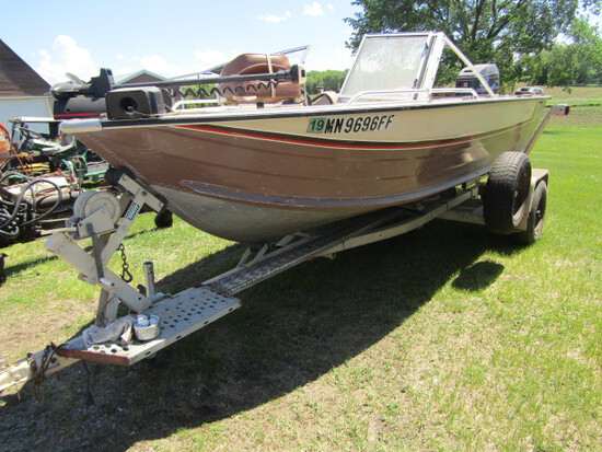 169. 1986 Sea Nymph 17 FT. Aluminum Fish & Ski  Boat, Open Bow with Walk Th
