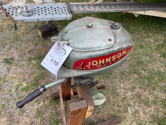 170. Green Johnson Out Board Motor