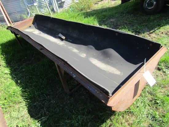 505. 12 FT. Steel Frame Rubber Belt Feed Bunk
