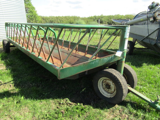 508. SI 20 FT. Tricycle Front Bunk Feeder Wagon with Tip Up Pole