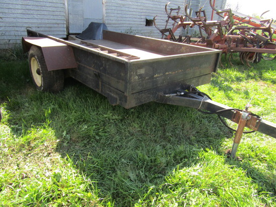 516. Virnig 6 FT. X 10 FT. Single Axle Hydraulic Rock Trailer with Ramps
