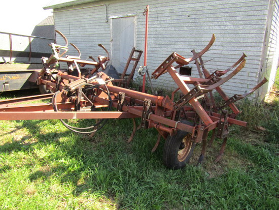 517. Brady 18 FT. Field Cultivator with Shop Built Cable Fold Winch