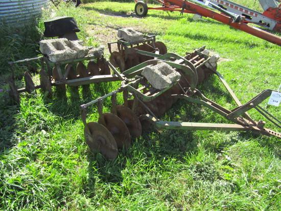 518. John Deere 8 FT. Tandem Tractor Disc ( Not on Wheels) Scrapers, Hyd. A