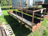 503. 12 FT. Steel Frame Rubber Belt Feed Bunk With Hay Feeder Sides