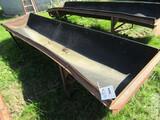 504. 12 FT. Steel Frame Rubber Belt Feed Bunk