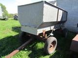 515. Flair Box with Hoist on MN Four Wheel Wagon, (Hoist Needs Hyd. Hose)