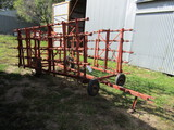 533. 5 Section (25 FT.) Tine Tooth Harrow on Cart, Sells With HI-Lift Jack