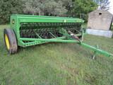 538. John Deere Model 450 12 FT. Grain Drill, Grass Seeder, Packer Wheels,