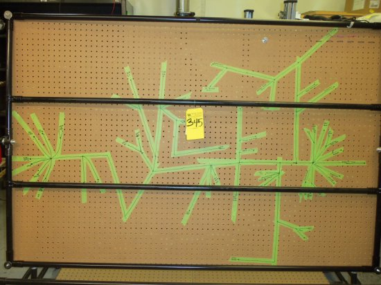 wire harness lay out pegboard table