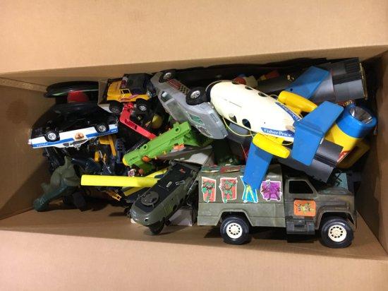 Pallet of vintage boys toys
