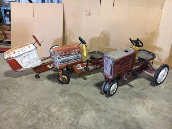 Lot of 3 vintage toy tractors