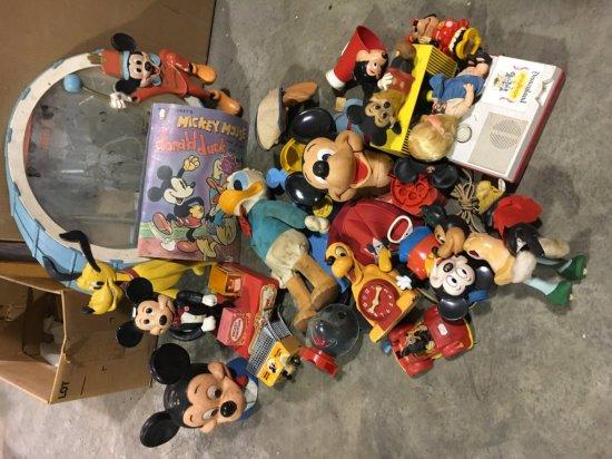 Pallet of misc vintage Disney toys