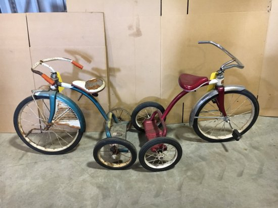 Lot of 2 vintage tricycles