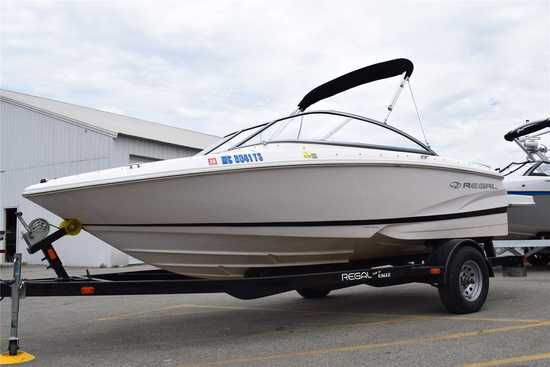 2014 Regal Model: 1900 ESX. VIN:RGMBV114A414. Hours: 189. This boat is located in Grand Rapids, MI.