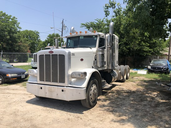 2017 Peterbilt 389 Series. Vin: 1XPXD49X7HD433408. Mileage as of 06/19: 269,214. Sold w/ title.