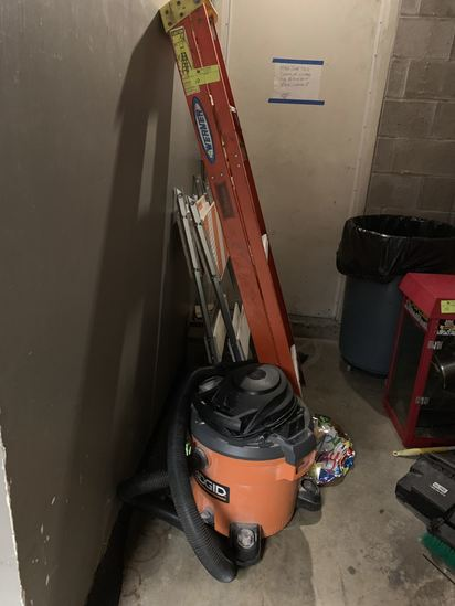 Contents of back area and shelving