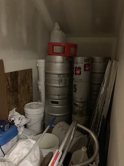Contents of second side room in Brew Room