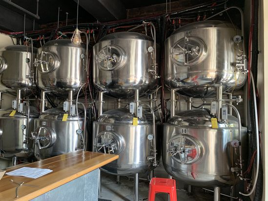 Stainless Steel Holding Tanks w/ Master Control System