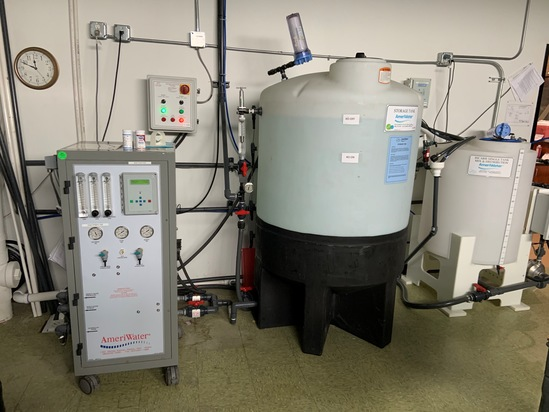 Water Treatment System for Dialysis, to include: (2) Carbon Filter Tanks, Brine Tank, Water Softener