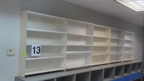 Wall Shelving 15' (5 bays)