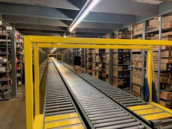 Live Roller Power Conveyor & Gravity Conveyor Linear Footage