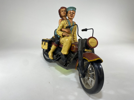 Harley Couple on Bike - Riding Sailor & Girlfriend DŽcor