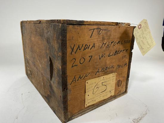 1920's Original Harley Davidson Shipping Crate
