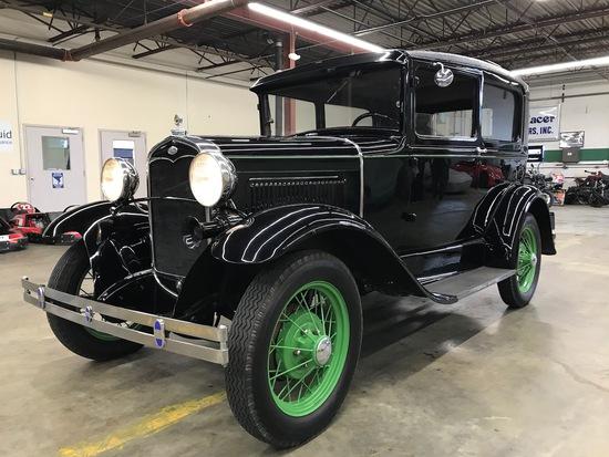 1931 Ford Model A, 2-Door sedan body style 55B. VIN: A3136602