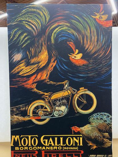 "Moto Galloni Motorcycle Poster 24"" x 36"""
