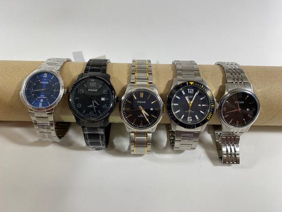 Men's Pulsar Watch, water resistant. Estimated Retail Value of $485.00
