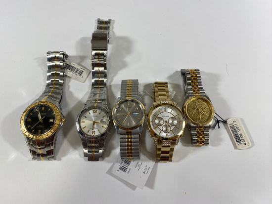 Pulsar Watches, one band broken. Estimated Retail Value of $700.00