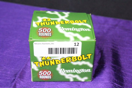 500 Rounds of Remington 22 Thunderbolt .22LR Ammo.