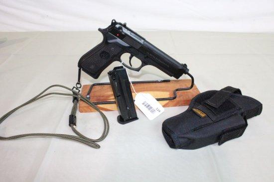 Beretta Mod. 92FS 9mm Pistol w/2-10 Shot Mags & Holster.